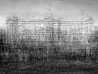 "© Idris Khan ""Buckingham Palace, London, 2012,"" which Idris Khan created on commission for The New York Times Magazine using portions of rephotographed postcards and vintage images."